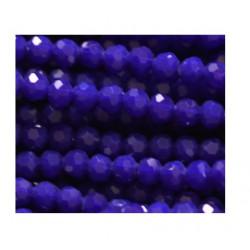 Perle cristal 4mm facette bleu foncé