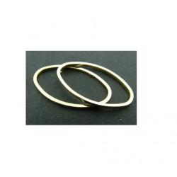 Anneau oval fermé 26x16mm