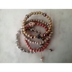 Bracelets bois et pierres