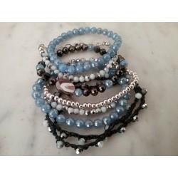 Bracelets cristal, pierres et métal