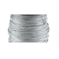 Fil lurex 1.5mm argenté