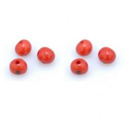 Perle Açaï rouge (environ 10mm)