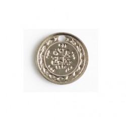 Breloque métal médaille 10mm