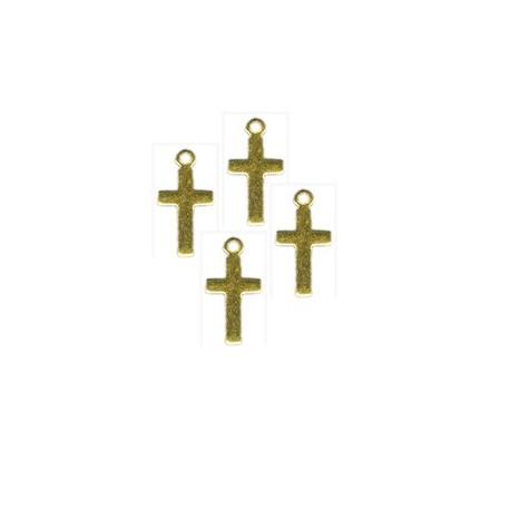 Breloque métal croix 10.2mm
