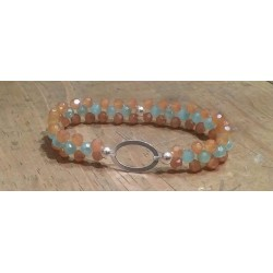 Bracelet en perles agent 925 et cristal