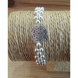 Bracelet en perles et intercalaire agent 925