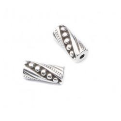 Perle métal tube 14x6mm