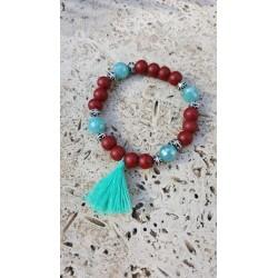 Bracelet pompon verre / cristal