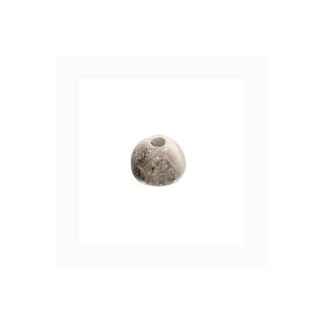 Perle céramique 8mm gris blanc multi émaillé