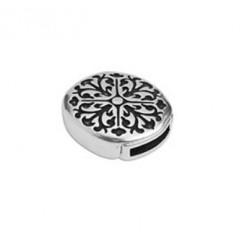 Fermoir magnétique métal fleur 21.3 x 18.4 mm