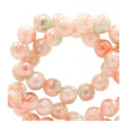 Perle verre ronde 8mm rose