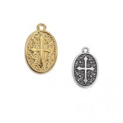Médaille métal croix 12.6 x 19.8 mm