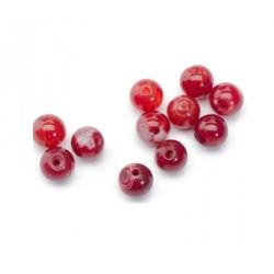 Agate craquelée rouge 6mm