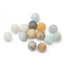 Amazonite multicolore 8mm mat