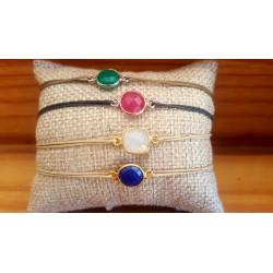 Bracelets pierres semi-précieuses serties