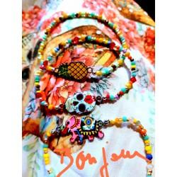 Bracelets multi perles et connecteurs