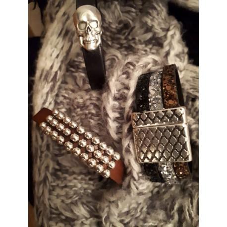 Bracelets cuirs et fermoirs magnétiques