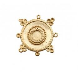 Pendentif bohème doré mat 45mm