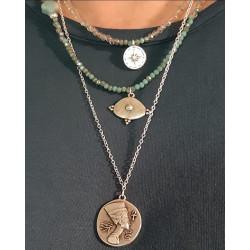Collier multi-rangs Nefertiti