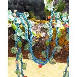 Collier au crochet turquoise