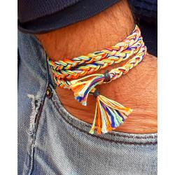 Bracelet tresse multicolore