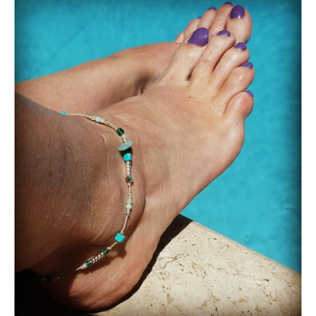 Chevillère perles et Argent 925