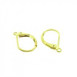 Boucles d'oreilles dormeuse simple 15mm doré