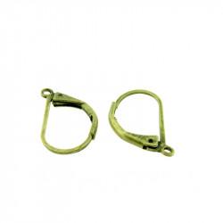 Boucles d'oreilles dormeuse simple 15mm bronze