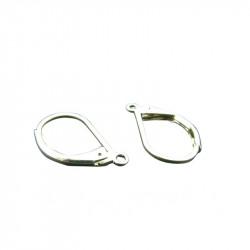 Boucles d'oreilles dormeuse simple 15mm argenté