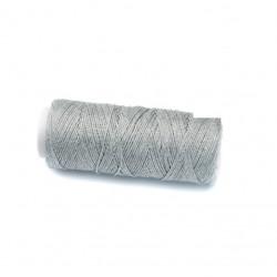 Coton ciré plat 1mm argenté