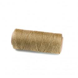 Coton ciré plat 1mm doré