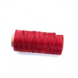 Coton ciré plat 1mm rouge brillant