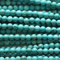 Howlite turquoise 4mm