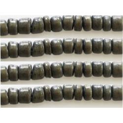 Rondelles bois 4/5mm gris vert