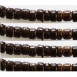 Rondelles bois 4/5mm marron