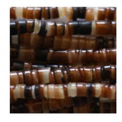 Coquillage rondelle beige ambre 2/3mm