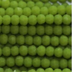 Perle cristal 2mm vert clair opaque