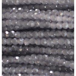 Perle cristal 2mm gris