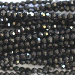 Perle cristal 3mm facette noir ab
