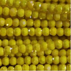 Perle cristal 3mm facette jaune