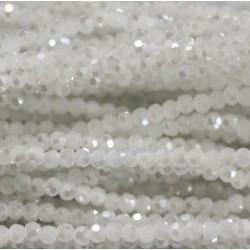Perle cristal 3mm blanc ab