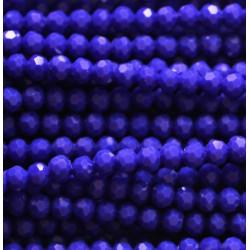 Perle cristal 3mm facette bleu foncé