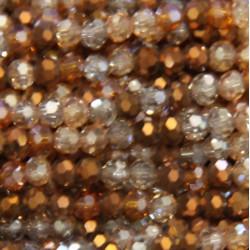 Perle cristal 4mm mordoré mixte