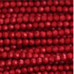 Perle cristal 4mm rouge opaque ab