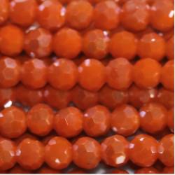 Perle cristal 4mm orange ab