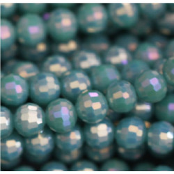 Perle cristal 6mm turquoise