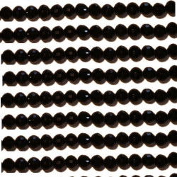 Perle cristal 6mm noir