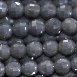 Perle cristal 6mm gris opaque