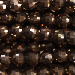 Perle cristal 6mm bronze