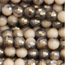 Perle cristal 6mm taupe mordoré